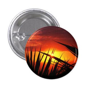 Blades of grass sunset beautiful scenery 3 cm round badge
