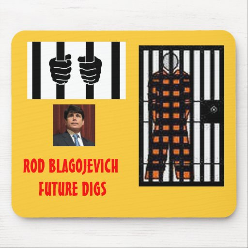 BLAGOJEVICH - Behind bars Mouse Pad