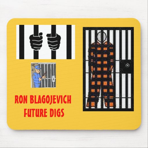 BLAGOJEVICH - Behind bars Mousepad
