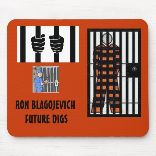 BLAGOJEVICH - Behind bars Mousepads