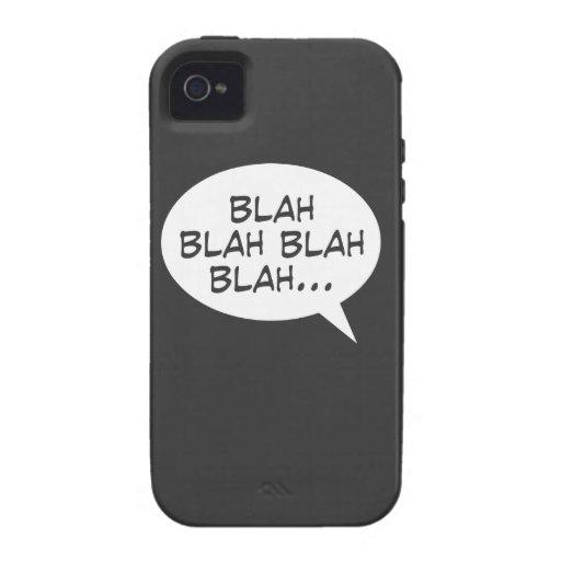 Blah blah blah blah... Case-Mate iPhone 4 cover
