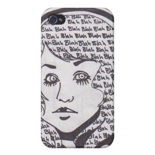 Blah Blah Blah iPhone Case iPhone 4/4S Covers
