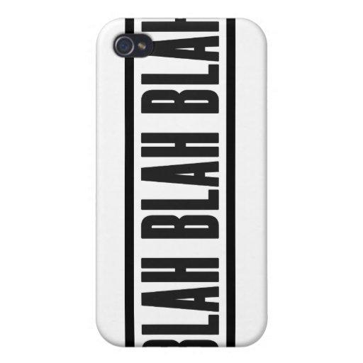 Blah Blah Blah Iphone Case iPhone 4 Covers