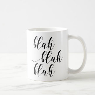 Blah Blah Blah! Modern Script Typography Mug