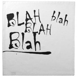 BLAH BLAH BLAH PRINTED NAPKINS