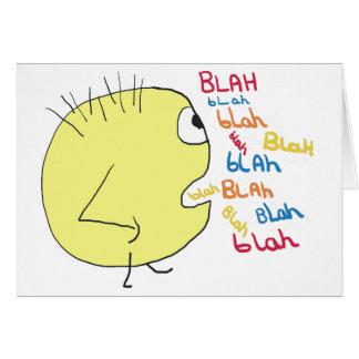 Blah Blah Card