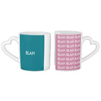Blah blah couple mug