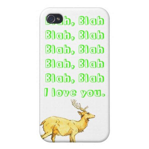 Blah, Blah I love you. iPhone 4/4S Case