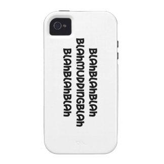 blah mudding blah iPhone 4 case