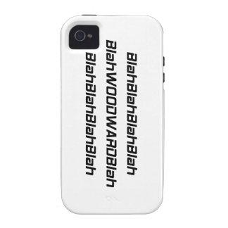 Blah Woodward Blah Case-Mate iPhone 4 Covers