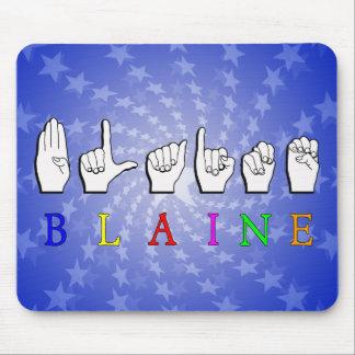 BLAINE FINGERSPELLED ASL MOUSE PAD