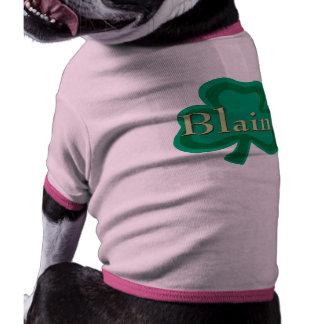 Blaine Irish Name Dog Tee