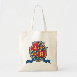 Blaine kids knight shield B name library bag