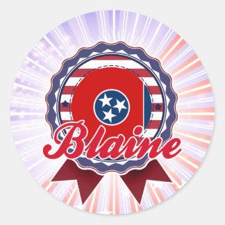 Blaine TN Round Stickers