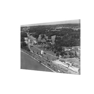 Blaine, WA Birds Eye View and Int. Peace Arch Canvas Print