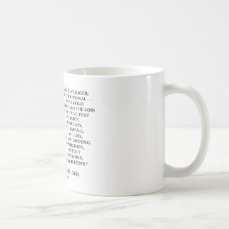 Blaise Pascal Gain Loss Wagering God Exists Quote Basic White Mug