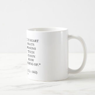 Blaise Pascal Heart Reasons Reason Know Nothing Of Coffee Mug