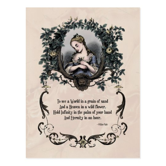 "Blake ""To See a World"" Victorian Postcard"