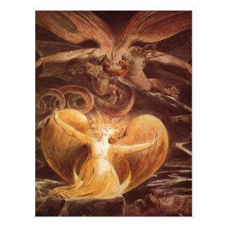 Blake, William Der gro?e Rote Drache und die mit d Postcard