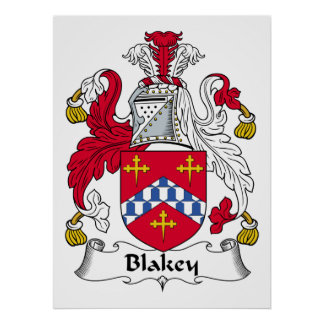 Blakey Family Crest Posters