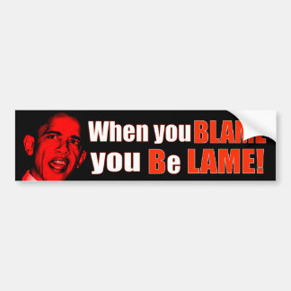 Blame Bush Bumper Sticker
