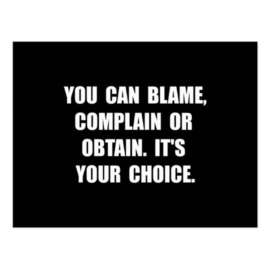 Blame Complain Obtain Postcard