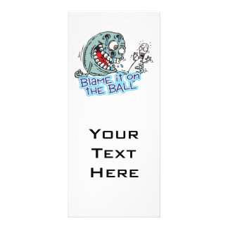 blame it on the ball bowling humor design rack cards
