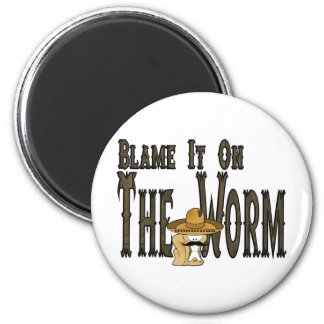 Blame It On The Worm 6 Cm Round Magnet