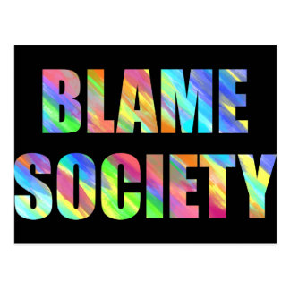 Blame Society Postcard