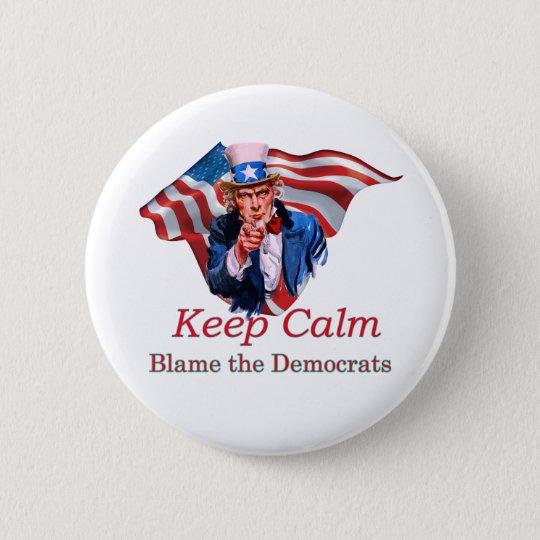 Blame the Democrats 6 Cm Round Badge