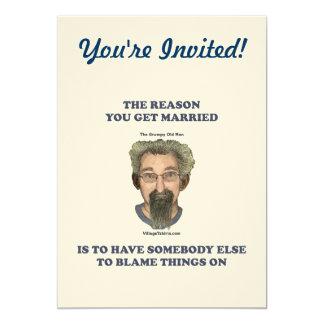 Blame Things On 13 Cm X 18 Cm Invitation Card