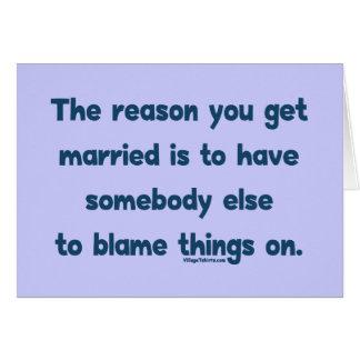 Blame Things On Note Card