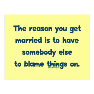Blame Things On Postcard