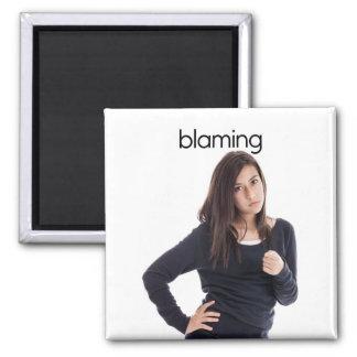 Blaming Refrigerator Magnet