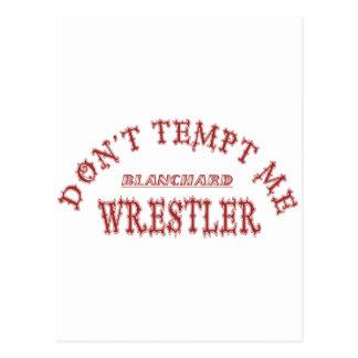 Blanchard Wrestler Postcard