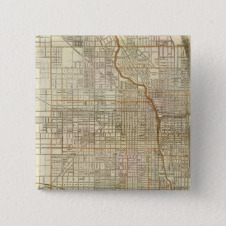 Blanchard's guide map of Chicago 15 Cm Square Badge