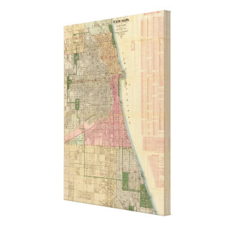 Blanchard's guide map of Chicago 2 Canvas Print