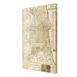 Blanchard's guide map of Chicago Canvas Print