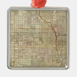 Blanchard's guide map of Chicago Christmas Ornament