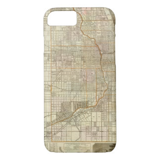 Blanchard's guide map of Chicago iPhone 8/7 Case