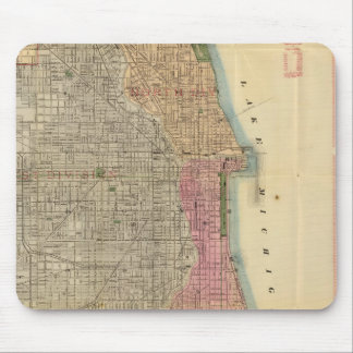 Blanchard's guide map of Chicago Mouse Mat