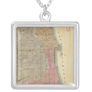 Blanchard's guide map of Chicago Silver Plated Necklace