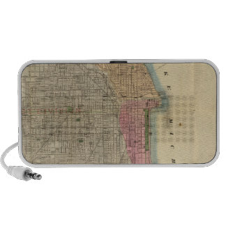 Blanchard's guide map of Chicago Notebook Speaker