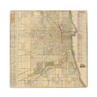 Blanchard's guide map of Chicago Wood Coaster