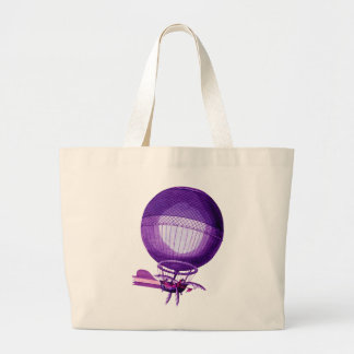 Blanchards Hydrogen (Purple) Hot Air Balloon Large Tote Bag