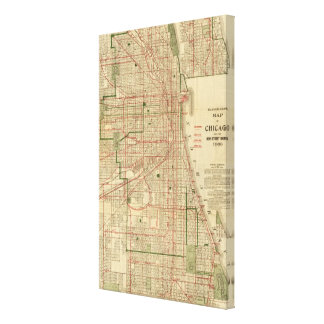 Blanchard's map of Chicago Canvas Print