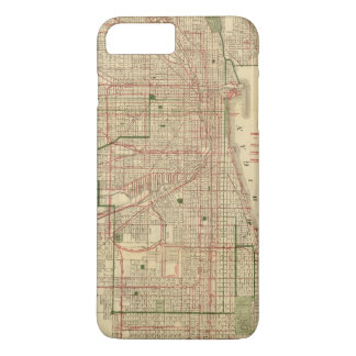 Blanchard's map of Chicago iPhone 8 Plus/7 Plus Case