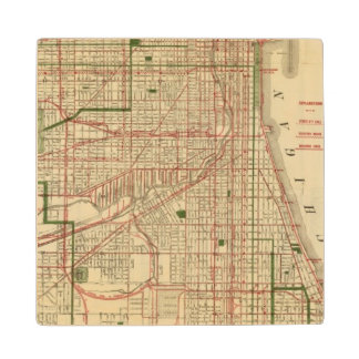 Blanchard's map of Chicago Wood Coaster