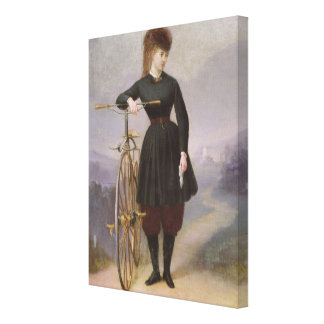Blanche d'Antigny  and her Velocipede Canvas Print