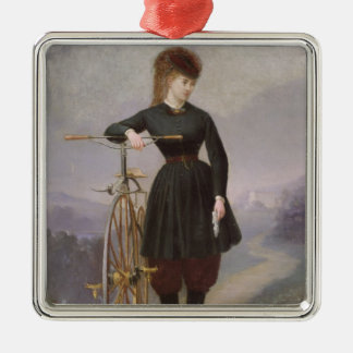 Blanche d'Antigny  and her Velocipede Christmas Ornament